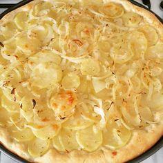 Focaccia patate e cipolle