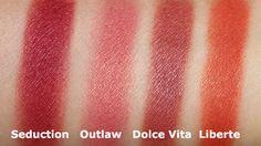 NARS blush colors Seduction, Outlaw, Dolce Vita and Liberte Swatch Comparison