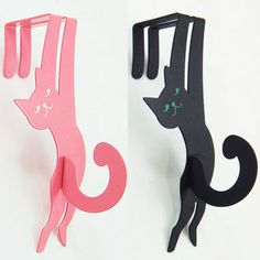 Hang; a cat door hook