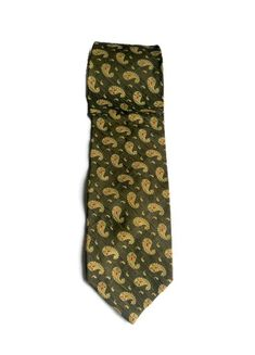 Giorgio Armani Silk  Cravat Tie Vintage 80s  Paisley silk neckties Mens accessories Made in Italy Gift for him
