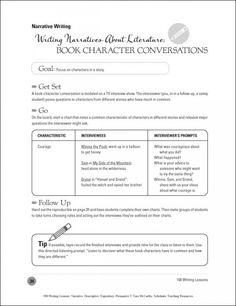 Narrative Writing | Book Character Conversations
