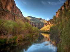 Balanced Rock State Park 'Salmon Falls Creek in the morning'.  Idaho