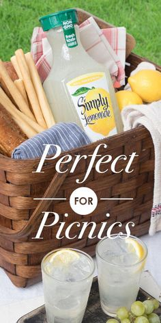 It's picnic season, so kick off your shoes and enjoy the refreshing taste of Simply Lemonade while soaking up some sun.