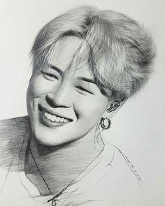 Kpop Drawings, Pencil Art Drawings, Art Drawings Sketches, Jimin Fanart, Kpop Fanart, Film Disney, Arte Sketchbook, Foto Jimin, Celebrity Drawings
