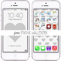 Free iPhone 5 wallpapers - grey heart iphone wallpaper and grey heart patter iphone wallpaper from Lesley Myrick Art and Design