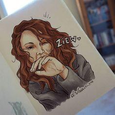 """DZIEŃ 76. Zainspirowane kolejną mądrością Daniela: """"Ja to chyba najbardziej chciałbym być kochany rano, jak wstaję i te włosy mam złe i wyglądam jakby mnie samochód przejechał, zawrócił i przejechał jeszcz raz, ten oddech... To jest miłość, jak się kocha to coś, kim jesteś z rana."""" #prawdazyciowa #miłość #olsikowadrawallyear"""