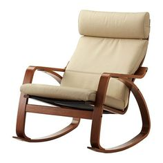 $229 LEATHER POÄNG Rocking chair - Robust off-white, medium brown - IKEA  http://www.ikea.com/ca/en/catalog/products/S99903934/#/S09900874