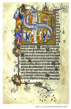 Illuminated Manuscript Letters Decorative currently held in the British Library , London England featuring