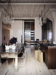 Rustic Modern Loft Kitchen
