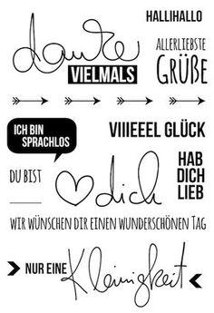 "#dpKartenstempel AddOn zum #dpJunikit15 von www.danipeuss.de | Klartext Stempel ""danke vielmals"""