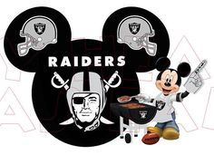 Printable DIY Mickey Mouse Raiders NFL Football by MyHeartHasEars, $5.00