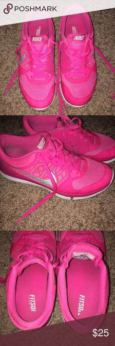 7.5 pink Nikes Great condition still! These still have a lot of miles on them! No major signs of wear. Nike Shoes Athletic Shoes