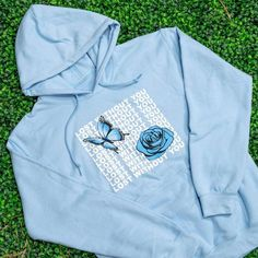 Enjoy cooler days in simple style with a super comfortable fit. This hoodie features a color-printed design on chest. Complete with a kangaroo pocket, and adjustable drawstring hood. Designed specifically to match with one of our shoe designs. Cute Lazy Outfits, Girl Outfits, Fashion Outfits, Stylish Hoodies, Cool Hoodies, Aesthetic Hoodie, Aesthetic Clothes, Yours Truly Clothing, Champion Clothing