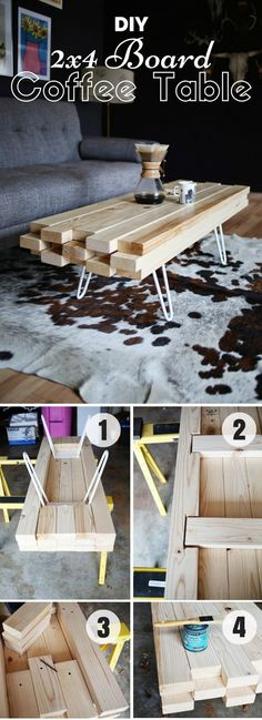 Check out how to make this easy DIY 2x4 Board Coffee Table Industry Standard Design