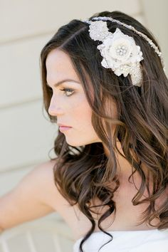 THE hair style! Just need the hairband...  Fab You Bliss Lifestyle Blog, Meghan Wiesman Photography, Vintage Chic Styled Wedding Shoot 05