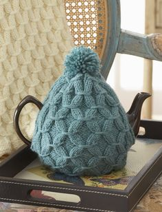 Cushy Smocked Throw And Tea Cozy - Free Knitted Pattern - (ravelry)