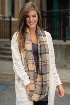 """Campfire Stories Infinity Scarf, Taupe"""