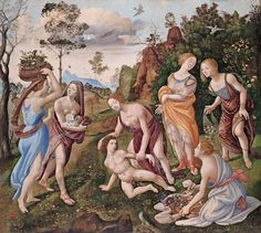 """""""The Finding of Vulcan on Lemnos,"""" by the compulsively original Florentine master Piero di Cosimo."""