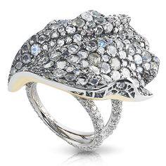 Fabergé Frozen Hibiscus Ring