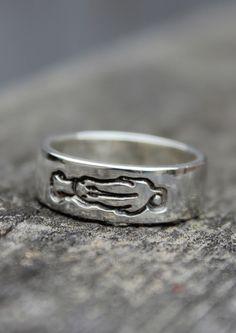 Rhodesian Ridgeback sterling silver ring