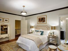 Take a peek inside this French-inspired bedroom featured throughout these HGTV.com photos.