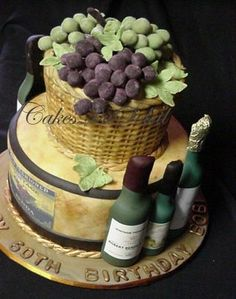 wine bottle cake | celebrate wine festival cake so use your imagination think outside the ...