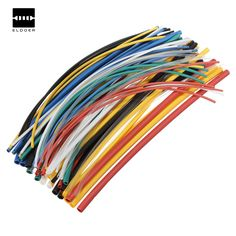 70 pcs Flame Retardant Durable 7 Color Assorted Colors Ratio 2:1 Polyolefin Heat Shrink Tubing Tube Kits