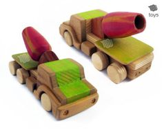 Stylised Blue Racing car  natural look wood toy