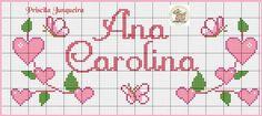 Cross Stitch, Bullet Journal, Floral, Cross Stitch Samplers, Female Names, Cross Stitch Alphabet, Names, Punto De Cruz, Seed Stitch