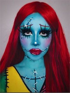 Make Up - 25 Halloween Makeup Looks to Scream Over - Skin & Makeup - Modern Salon Looks Halloween, Disfarces Halloween, Halloween Face Makeup, Halloween Costumes, Halloween Face Paintings, Vintage Halloween, Disney Halloween Makeup, Beautiful Halloween Makeup, Halloween Photos