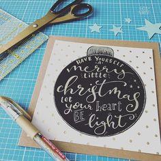 Ein paar Vorbereitungen fr meine WeihnachtskartenWorkshops Diese Karten habe ichhellip