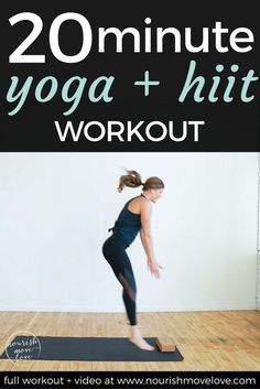 strengthen and lengthen while increasing power and endurance with this metabolic boosting calorie-burning yoga hiit fusion workout you can do AT HOME in 10 20 or 30 minutes! Fat Burning Yoga, Fat Burning Workout, Yoga Inspiration, Yoga Fitness, Fitness Plan, Fitness Tips, Health Fitness, Power Yoga, 30 Minute Yoga
