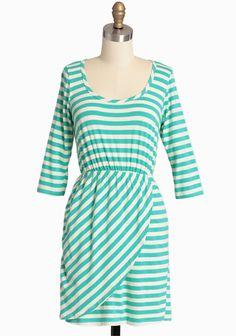 Sorbet Shoppe Striped Dress In Mint