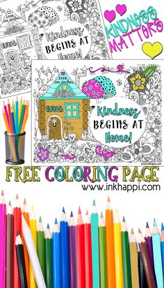 Kindness Begins at Home... A Coloring Page and a Message