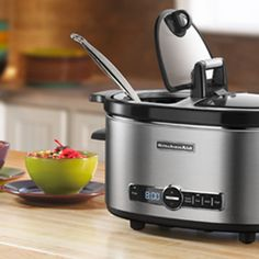 Slow Cooker Creamy Chicken Noodle Soup and KitchenAid Review