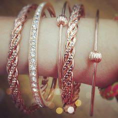 Rose-gold bracelets from Ruche