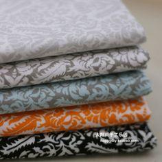 BWM羽毛纹饰(5色选) 棉布拼布DIY布料|幅宽1.1米-淘宝网