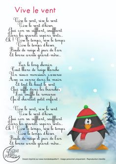 To the tune of Jingle Bells! French Language Lessons, French Lessons, French Poems, French Kids, French Education, French Christmas, French Classroom, French Resources, Teaching French