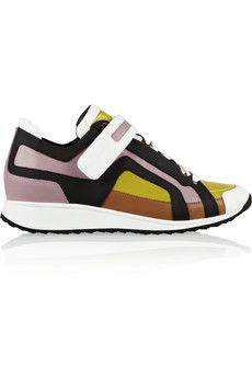 new style a5638 fa43b love these colors! also the think paneling! Pierre Hardy Paneled leather  sneakers  NET