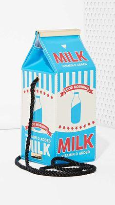 Skinnydip London Vegan Leather Milk Carton Crossbody #bag #milk