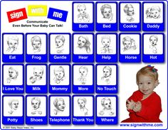 This is a great printable sign language chart to help start teaching babies to sign!