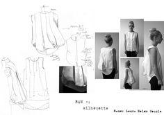 Fashion Portfolio - fashion design development - fashion drawings; fashion sketchbook // Laura Helen Searle