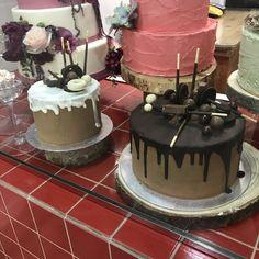 tarta dripp choco y choco blanco