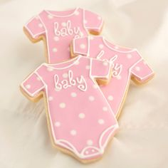 Baby Girl Onesie Cookie Favors // 1 doz. // by PastryTartBakery, $39.50