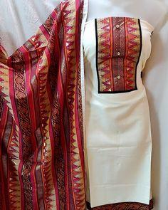 Image may contain: people standing Cotton Saree Blouse, Silk Dupatta, Cotton Frocks, Cotton Dresses, Salwar Dress, Salwar Kameez, Office Wear Dresses, Elite Fashion, Women's Fashion