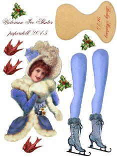 Victorian Paper Dolls, Vintage Paper Dolls, Vintage Crafts, Christmas Paper, Christmas Crafts, Christmas Ornaments, Victorian Christmas, Vintage Christmas, Paper Art