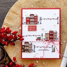 Hero Arts   Bright Lights - Big City Christmas Card by Yana Smakula
