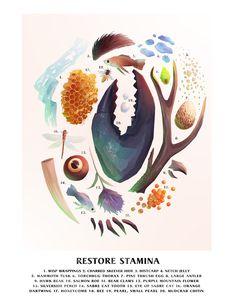 Syd Weiler's 'Alchemical Ingredients of Skyrim' Poster Series Skyrim Drawing, Skyrim Lore, Skyrim Tattoo, Elder Scrolls Skyrim, Artwork For Living Room, Poster Series, Graphic Design Illustration, Design Illustrations, Art Sketchbook