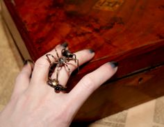 Spider and Cras Tibi Rings
