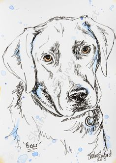 Easy Animal Drawings, Pencil Drawings Of Animals, Easy Drawings, Dog Drawing Simple, Cat Drawing, Pen Sketch, Sketches, Dog Pattern, Dog Paintings